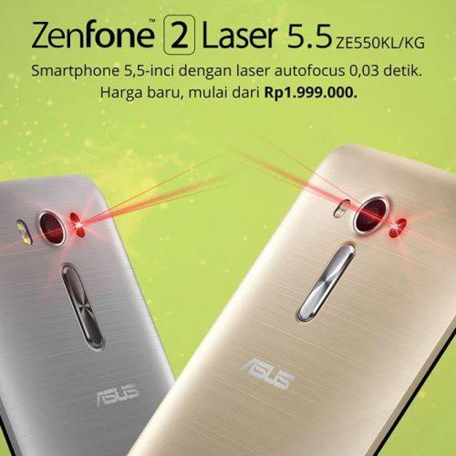 Asyik! Asus Zenfone 2 Laser Turun Harga